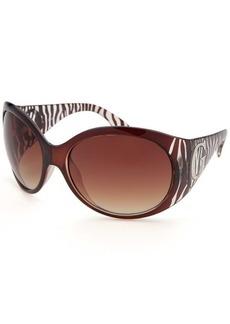 Guess Women's Oversized Brown Zebra Print Sunglasses