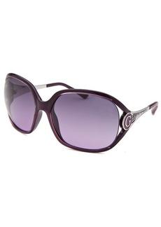 Guess Women's Oversized Translucent Purple Sunglasses