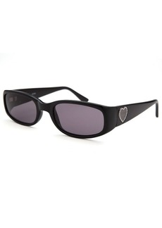 Guess Women's Rectangle Black Sunglasses Purple Lenses