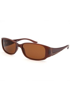 Guess Women's Rectangle Translucent Brown Sunglasses
