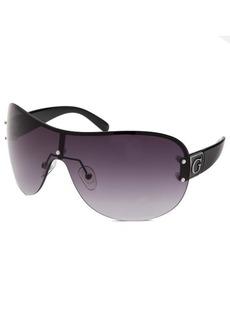 Guess Women's Shield Silver-Tone Sunglasses Black Arms