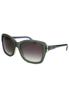 Guess Women's Square Green and Blue Sunglasses