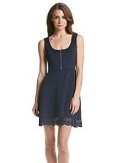 GUESS Zip Front Scuba Dress