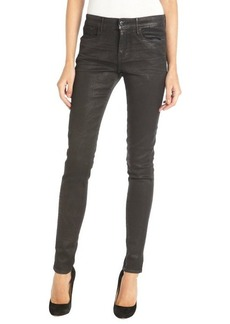 Habitual black coated 'Eve' skinny denim jeans