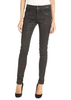 Habitual black coated 'Eve' skinny denim jeans