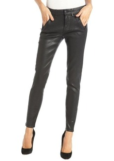 Habitual black stretch 'Amalia' ankle zip coated skinny jeans