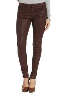 Habitual burgundy coated 'Eve' skinny denim jeans