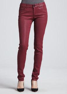Habitual Denim Alice Sangria Coated Skinny Jeans