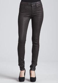 Habitual Denim Eve Hi-Rise Skinny Jeans, Chocolate Leopard