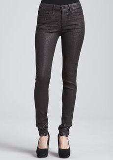 Habitual Denim Eve Hi-Rise Skinny Jeans, Chocolate Leopard