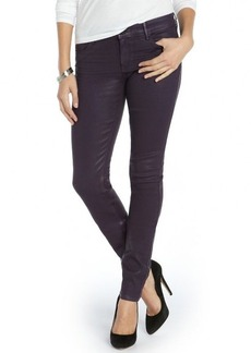 Habitual royalty purple stretch cotton 'Magic Coated Alice' skinny jeans