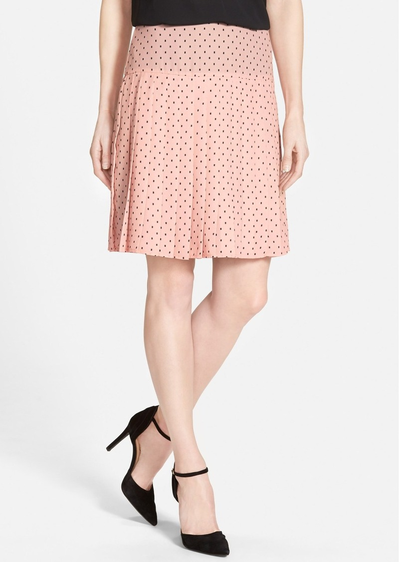 halogen halogen 174 print pleat drop yoke skirt regular