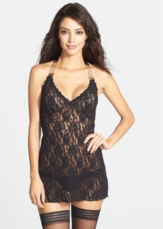 Hanky Panky 'After Midnight' Chain Detail Halter Babydoll
