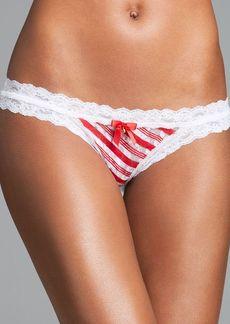 Hanky Panky Bikini - Peppermint Stripe Brazilian #4U2106