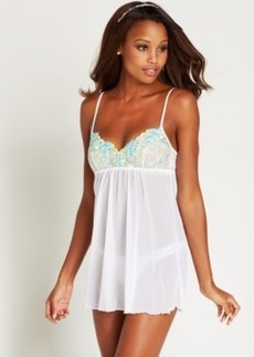 Hanky Panky Embroidery Babydoll with G-String 966981