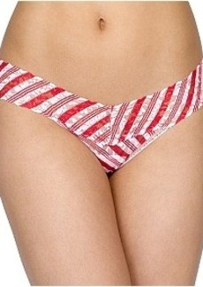 Hanky Panky Peppermint Stripe Low Rise Thong