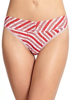Hanky Panky Peppermint-Stripe Original-Rise Thong