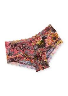Hanky Panky Tapestry Floral Print Lace Boyshorts, Pink