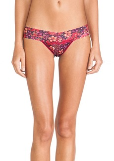 Hanky Panky Wonderfleur Low Rise Thong in Red