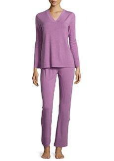 Champagne Pajama Set, Lilac Melange   Champagne Pajama Set, Lilac Melange