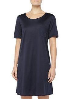 Cotton Deluxe Short-Sleeve Big Sleepshirt, Ink   Cotton Deluxe Short-Sleeve Big Sleepshirt, Ink