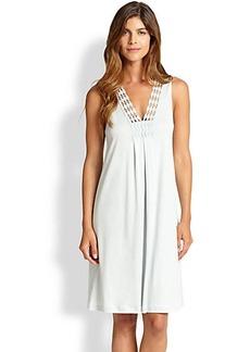 Hanro Brooklyn Cotton Tank Short Gown