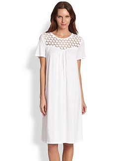 Hanro Carla Short Sleeve Gown
