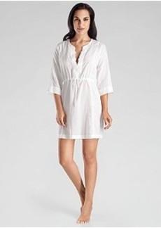 Hanro Delfina Woven Cotton Sleep Shirt