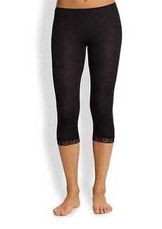 Hanro Lace Trimmed Cropped Leggings