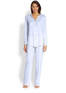 Hanro Long Sleeve Button-Front Pajamas