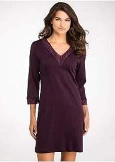 Hanro Moments 3/4 Sleeve Cotton Night Shirt