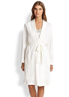 Hanro Queen Pima Cotton Knit Robe