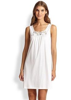Hanro Queen Pima Cotton Knit Tank Gown