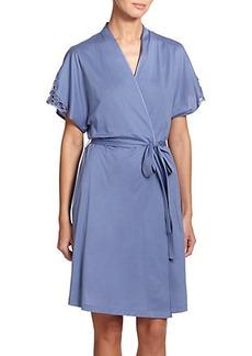 Hanro Roma Lace-Trimmed Kimono Robe