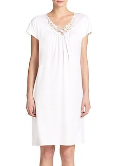 Hanro Roma Short-Sleeve Gown