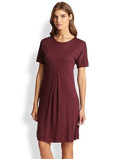 Hanro Tribeca Short-Sleeve Knit Gown