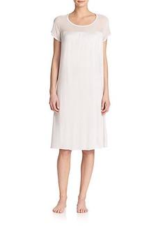 Hanro Venezia Short-Sleeve Gown