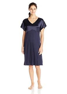 Hanro Women's Broadway Short Sleeve Gown