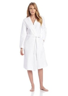 Hanro Womens Cotton Pique Robe