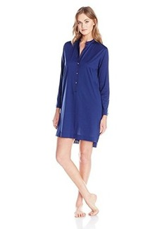Hanro Women's Malta Long Sleeve Nightgown