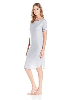 Hanro Women's Portofino Short-Sleeve Nightgown