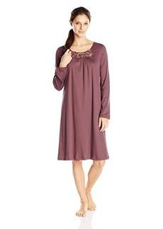 Hanro Women's Queens Long-Sleeve Nightgown