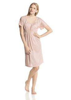 Hanro Women's Vanessa Short Sleeve Gown