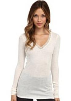 Hanro Woolen Lace Long-Sleeve Shirt