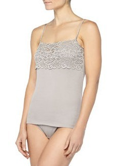 Luxury Moments Wide-Lace Camisole, Ash   Luxury Moments Wide-Lace Camisole, Ash