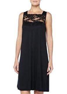 Met Leavers Lace Tank Gown, Black   Met Leavers Lace Tank Gown, Black