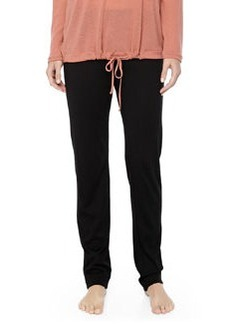 MOMA Wool-Silk Straight-Leg Pants, Black   MOMA Wool-Silk Straight-Leg Pants, Black