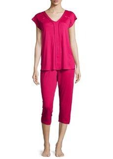 Pisa Crop Pajama Set, Cranberry   Pisa Crop Pajama Set, Cranberry