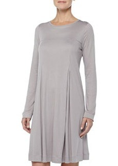 Tribeca Inverted-Pleat Short Gown, Ash   Tribeca Inverted-Pleat Short Gown, Ash