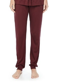 Tribeca Jersey Pleated Pants, Maroon   Tribeca Jersey Pleated Pants, Maroon